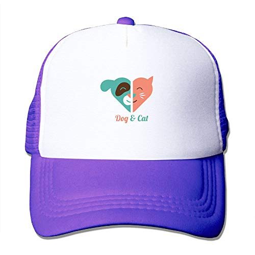 Buecoutes Dogs and Cats Sun Protection Adjustable Caps Quick Dry Mesh Hat Purple ()