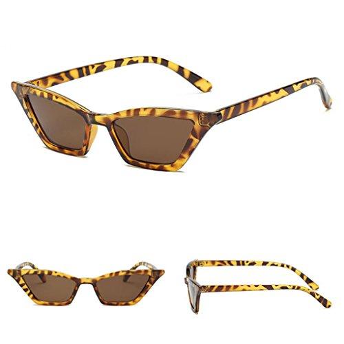 al Aire Gafas Protección Viajes Para Ojos Leopardo de Vintage Lente DOLITY champán Marco Deportes Conducción Eepejada Plástico D UV400 Sol Gato Libre de de wOU5qH