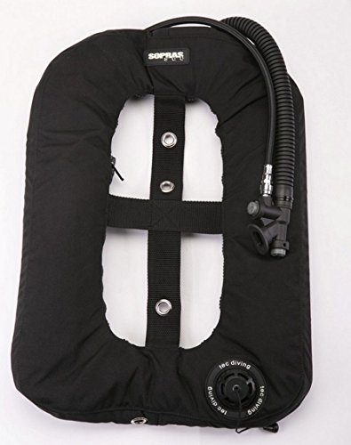 Tekno Donut BC BCD Bladder { 30 lb | 13.3 kg } light Black Single Tank Wing Underwater Scuba Diving Freediving Spearfishing Gear tech diving (Scuba Wing)