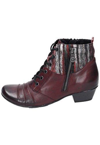 Remonte D7390, Botas Chukka para Mujer Rojo (Chianti/rot-grau/burgund)