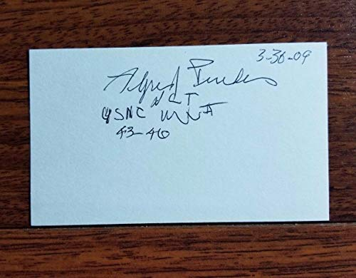 - WWII Navajo Code Talker Alfred Peaches Hand Signed Index Card JG Autographs CoA