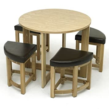 WorldStores Sherwood Mocha Stowaway Dining Table   Chairs Set