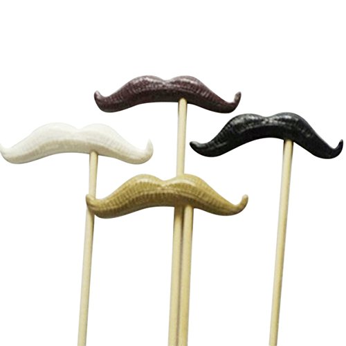 OULII Funny Photo Booth Props Kit Mustache Photobooth Props Set Wedding Party Favors]()