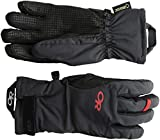 Outdoor Research Women's Ouray Ice Gloves, Black/Tomato, Large