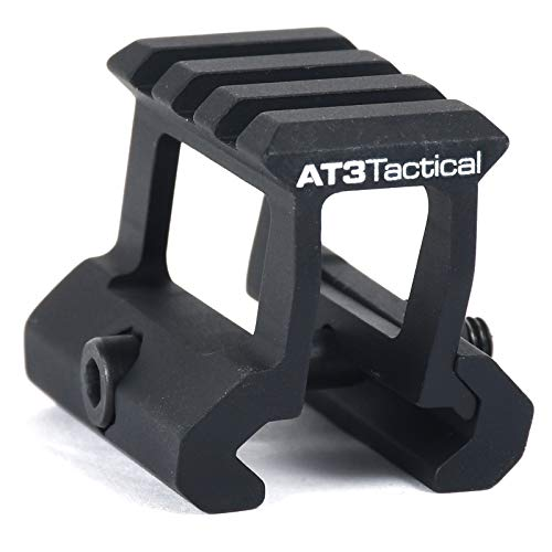 """Mount Riser Rail (AT3 Tactical PRO-Mount Mini Riser Mount – .83"""" and 1"""" - for RD-50 Red Dot Sight & Any Picatinny/Weaver Scope (1.0 Inch))"""