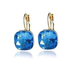 Women's Austrian Crystal Dangle Earrings