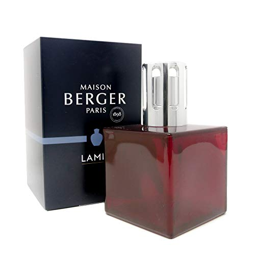 Lampe Berger Model Cube - Red - Home Fragrance Diffuser - 3x3x5 inches