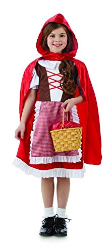 fun shack Girls Little Red Riding Hood Costume Childrens Fairytale Dress Outfit - -