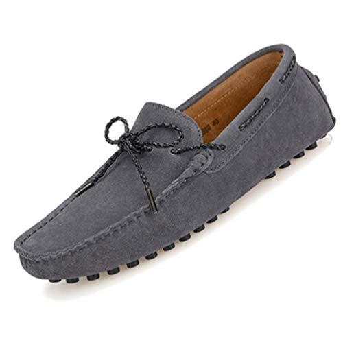 Moda De MocasíN Mocasines Estilo Hombre Oscuro Zapatos Adultos ConduccióN Gris Hombres SóLido 85w4wdxq