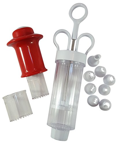 Cupcake Decorating Kit, 3 Pc. Cupcake Corer Bundled With 9 Pc. Cupcake Injector / Decorating Pastry Tip Icing Set, (Cream Filled Halloween Cupcakes)