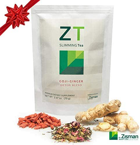 Dr. Zisman ZT Slimming Tea | Goji-Ginger Detox Blend | Weight Loss Tea | Organic Herbal Tea for Cleanse | Accelerate Your Metabolism in a Natural Way | Lose Weight with a Healthier Digestion