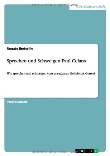 Download Sprechen und Schweigen Paul Celans (German Edition) pdf epub