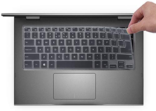 Keyboard Cover for Dell Inspiron 13 5368 5378 5370 5379/Dell Inspiron 7386 7373 7375 7368 7378 7380/15.6 Dell Inspiron 15 i5568 i5578 5579 5585 7570 7573 7569 7579 7580 7586 / Inspiron 14 5482, Clear