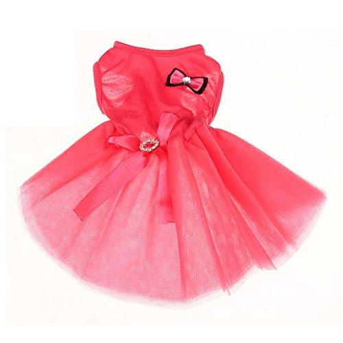 FAPIZI Lovely Puppy Dog Princess Dress Dog Camisole Gauze Skirt Pet Dog Bubble Dress (S, Pink) (Dresses For Dogs)