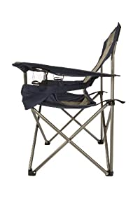 Kamp Rite Padded Folding Chair With Lumbar Support, Tan/Blue