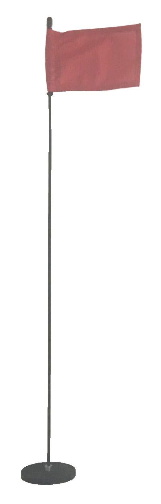 Magnetic Base Flag Holder - Hold Force 44 lbs. Flex Steel Spring Pole 30 inch (4 x 6) Red Flag
