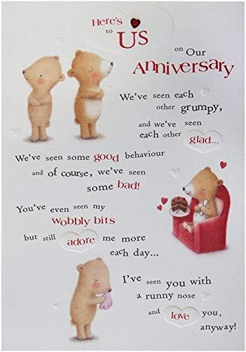 Hallmark Medium Contemporary Embossed Anniversary Card