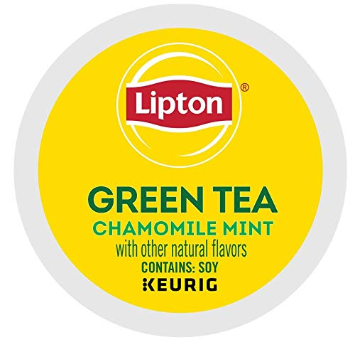 Lipton Soothe Green Tea with Chamomile and Mint single serve K-Cup pods for Keurig brewers, 24 Count