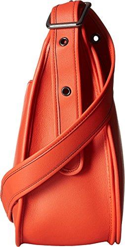 Allenatore, Tracolla Da Donna Arancione Scuro Anticato Nichel / Corallo Profondo