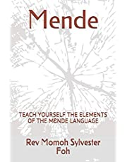 Mende: TEACH YOURSELF THE ELEMENTS OF THE MƐNDE LANGUAGE