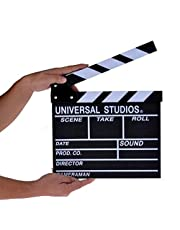 Directors TV Film Home Movie Action Scene White Clapper Board