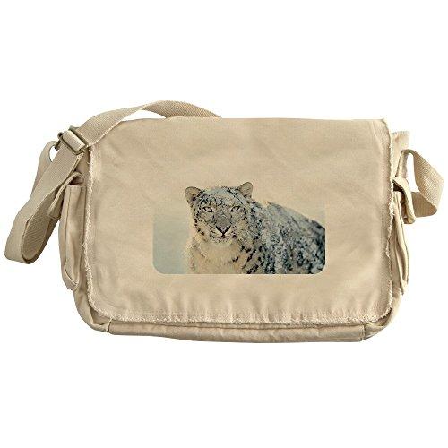 Royal Lion Khaki Messenger Bag Snow Leopard HD (Snow White Apple Bag)