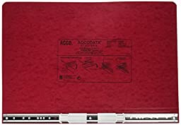 ACCO Pressboard Hanging Data Binder, Unburst Sheets, 14.875 x 8.5 Inches, Executive Red (54049)