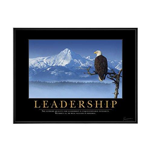 Successories 756029 Leadership Eagle Mini Motivational Poster with Black Aluminum Frame in - Eagle Leadership