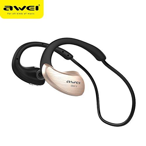 AWEI A885BL Bluetooth Headphones Sport Wireless Earphones Bluetooth Headset With Microphone Auriculares Ecouteur (Luxury Gold