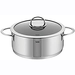wmf vignola high casserole with lid 4 quart silver kitchen dining. Black Bedroom Furniture Sets. Home Design Ideas