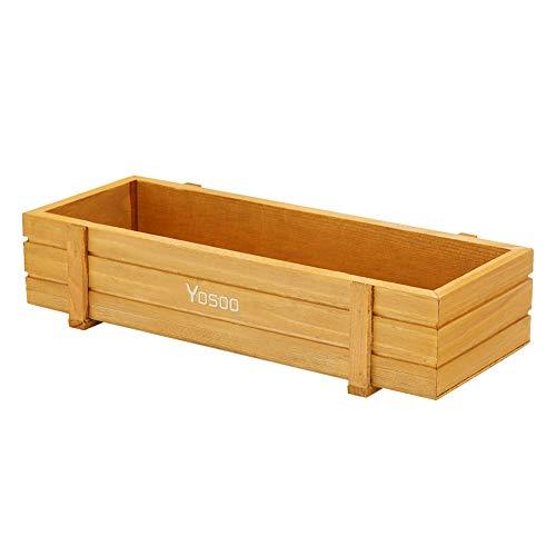 (Yosoo- Wooden Plant Seeds Box, Indoor Outdoor Windowsill Kitchen Garden Herb/Flower Planter Trough (3Pcs))