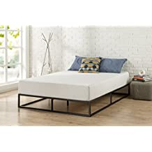 Zinus Modern Studio 10 Inch Platforma Low Profile Bed Frame, Mattress Foundation, Boxspring Optional, Wood slat support, Queen