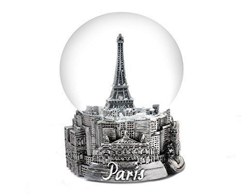 Paris France Eiffel Tower Snow Globe 65mm Zizo