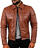 Laverapelle Men's Genuine Lambskin Leather Jacket (TAN, Small, Cotton Lining) - 1501200