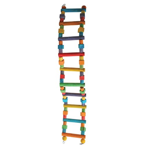 A&E Cage Company Extra Large Wood Block Ladder 8''x2''x48'' Wood