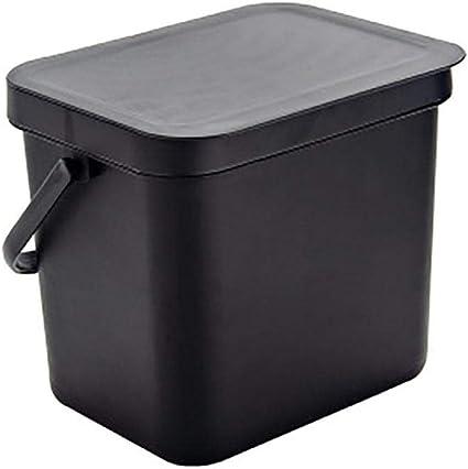 cesta de pl/ástico para cocinas 22,5 x 22,5 x 16,5 cm. Papelera rectangular de pared con tapa oficinas dormitorios 22.5*22.5*16.5CM azul