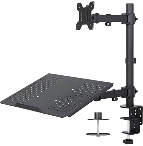 Review Of VIVO Black Fully Adjustable Single Computer Monitor and Laptop Desk Mount Combo, Stand wit...