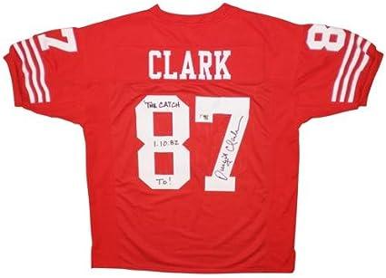 Dwight Clark Autographed San Francisco (Red #87) Custom Jersey w ...