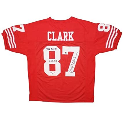 buy online cff29 c62a9 Dwight Clark Autographed San Francisco 49ers (Red #87 ...