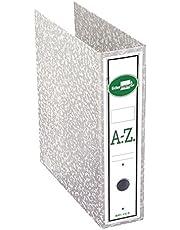 Liderpapel - Archivador de palanca folio classic grey carton entrecolado con rado lomo 75mm compresor metalic