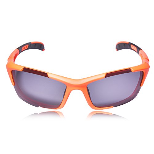 (Hulislem S1 Sport Polarized Sunglasses FDA Approved (Orange-Smoke))