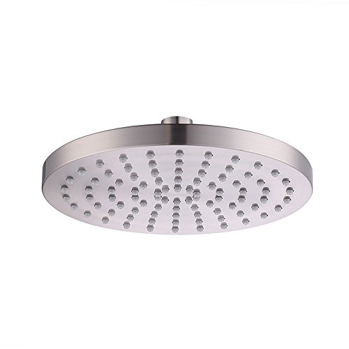 KES 2.5 gpm Rain Shower Head 8 Inch for Bathroom, Brushed Nickel Fixed Mount, J201S8-BN