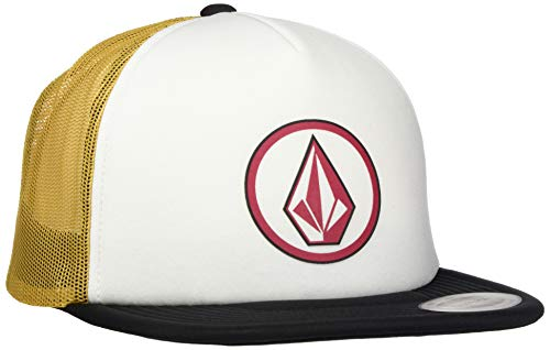Volcom Men's Full Frontal Cheese 5 Panel Trucker Hat, Camel, One Size Fits All