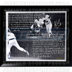 - New York Yankees Bucky Dent Facsimile 'Walk-Off Home Run vs. Boston' Stretched Framed 22x26 Story Canvas