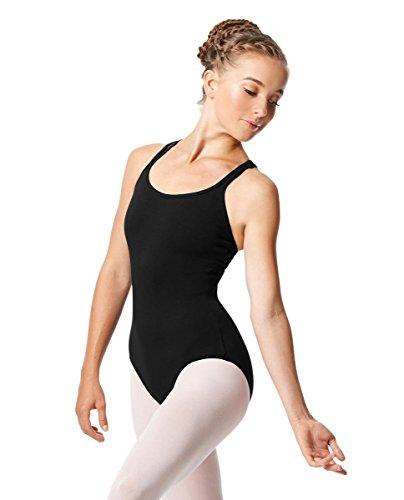 - Calla Dancewear Womens Double Strap Camisole Leotard Larissa S Black