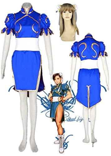 Cosfun Top Street Fighter Chunli Cosplay Costume Halloween