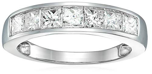 1.50 cttw Princess Cut Channel Diamond Wedding Band 14K White Gold Size 6