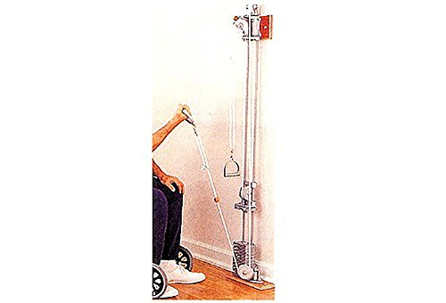 CanDo 10-0668 Chest Weight Pulley System, One Tower, Dual Handle, Lower/Mid, 5 x 2.2 lb by Cando