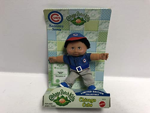 2000 Mattel Cabbage Patch Kids SAMMY SOSA Chicago Cubs Limited Edition Collectible 5
