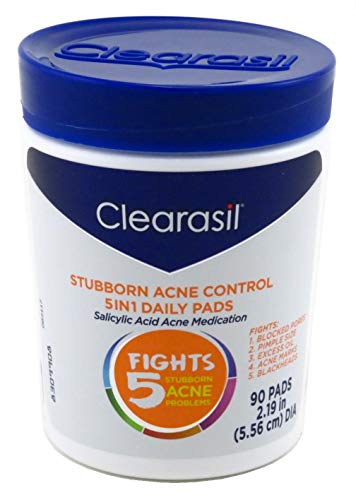Clearasil Clearasil ultra 5 in 1 acne face wash pads, 90 count. (Best Over The Counter Blackhead Treatment)